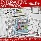 Math Interactive Notebook: Starter Set for Kindergarten, F