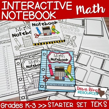 Math Interactive Notebook: Starter Set |Kindergarten, First, Second & Third
