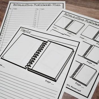 Math Interactive Notebook: Starter Set |Kindergarten, First, Second & Third