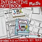 Math Interactive Notebook: Starter Set |Kindergarten, Firs