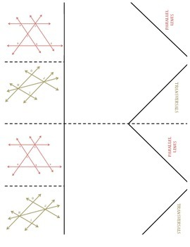 Math Interactive Notebook - Stick-N-Solve FOLDABLES Angles & Volume - 8th Gr