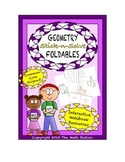 Math Interactive Notebook - Stick-N-Solve FOLDABLES Geometry - 7th Grade