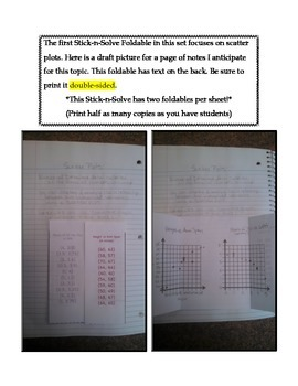 Math Interactive Notebook - Stick-N-Solve FOLDABLES Linearity & Analysis- 8th Gr