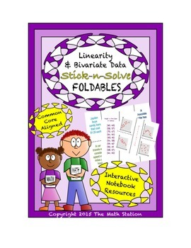 Math Interactive Notebook - Stick-N-Solve FOLDABLES Linear