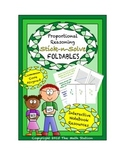Math Interactive Notebook- Stick-N-Solve FOLDABLES Proportional Reasoning-7th Gr