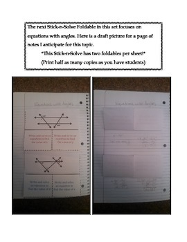 Math Interactive Notebook - Stick-N-Solve FOLDABLES Scale & Construction- 7th Gr