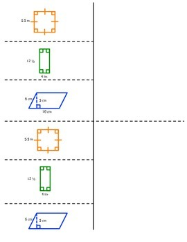 Math Interactive Notebook - Stick-n-Solve FOLDABLES Geometry - 6th Grade