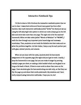 Math Interactive Notebook- Stick-n-Solve FOLDABLES Numbers & Coordinates- 6th Gr