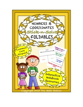 Math Interactive Notebook- Stick-n-Solve FOLDABLES Numbers