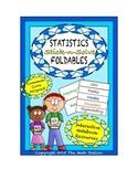Math Interactive Notebook - Stick-n-Solve FOLDABLES Statistics - 6th Grade