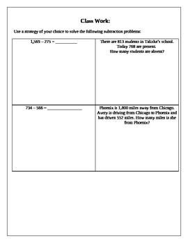 Math Interactive Notebook: Subtracting (Counting up and US standard)