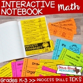 Math Interactive Notebook: TEKS Process Skills or TEKS Pro