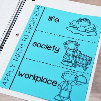 Math Interactive Notebook: TEKS Process Skills or TEKS Process Standards