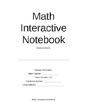 Math Interactive Notebook Table of Contents (Can be used in ANY subject area)