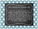 Math Interactive Notebook Tabs