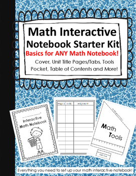 Math Interactive Notebook Basics - Tabs, Covers, and More!!!