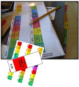 Math Interactive Notebook Tabs- Student Organization