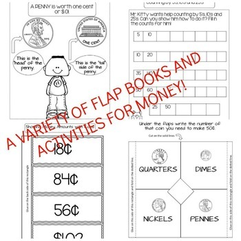 Math Interactive Notebook: Time, Money, and Measurement