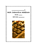 Math Interactive Notebook Title Page