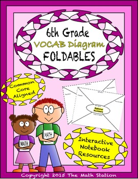 Math Interactive Notebook - Vocab Diagrams FOLDABLES 6th Grade