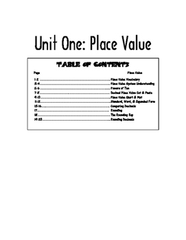 Math Interactive Notebook Whole Number & Decimal Place Value
