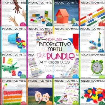 Math Interactive Notebook and MORE! 1st Grade GROWING BUNDLE