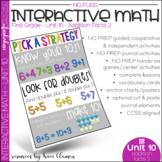 Math Interactive Notebook and MORE! 1st Grade Unit 10 Addi