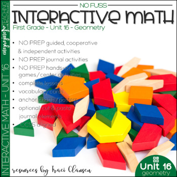 Math Interactive Notebook and MORE! 1st Grade Unit 16 - GEOMETRY