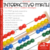 Math No Prep Interactive Notebook and MORE! 1st Grade Unit 4 Addition Strategies