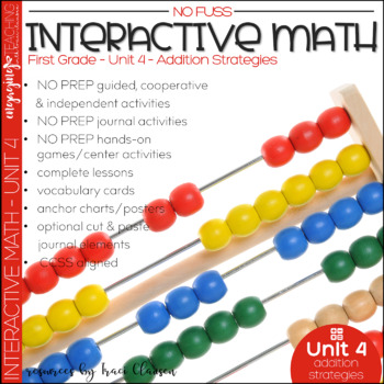 Math Interactive Notebook and MORE! 1st Grade Unit 4