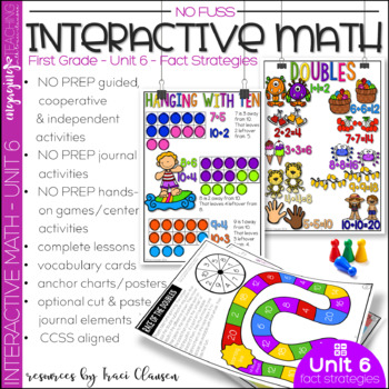 Math Interactive Notebook and MORE! 1st Grade Unit 6 Fact Strategies