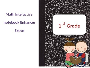 Math Interactive Notebook enhancer, 1st grade Extras (Editable)