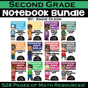 Math Interactive Notebook: 2nd Grade