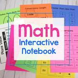 Math Interactive Notebook for Grades 4-8