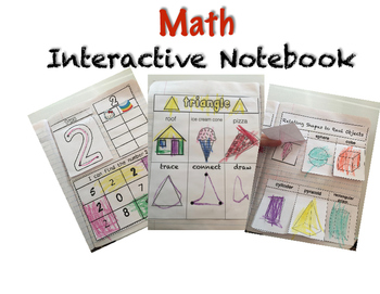Math Interactive Notebooking Preschool & Kindergarten