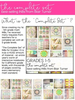 Math Interactive Notebooks: 1st - 5th Grade {THE COMPLETE SET}