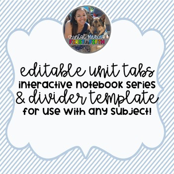 *EDITABLE* Unit Dividers - 3 per page (Interactive Notebook Series)