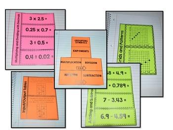 Math Interactive Notebook {5th Grade Common Core: All Standards}