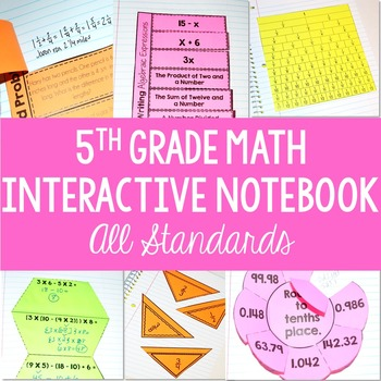 Math Interactive Notebook {5th Grade Common Core: All Standards} BUNDLE