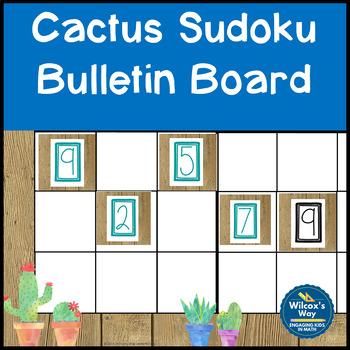 Math Interactive Sudoku Bulletin Board Cactus