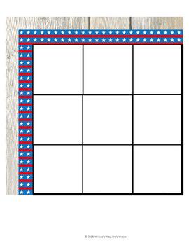 Math Interactive Sudoku Bulletin Board Patriotic Rustic Wood