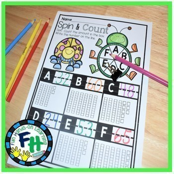 Math Interactive Worksheets BUNDLE {Kindergarten & First Grade}