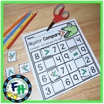 Math Interactive Worksheets BUNDLE {Kindergarten & First Grade}