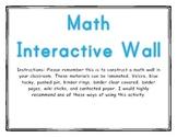 Math Interactive board wall