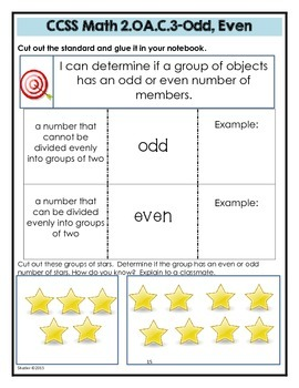 Math Interactive Notebook Printables -Grade 2