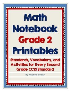 Math Interactive Notebook Printables -Grade 2