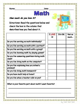Math Interest Inventory