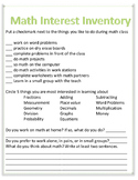 Math Interest Inventory
