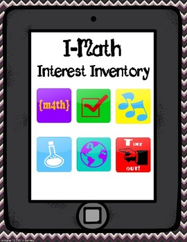 Math Interest Inventory- Back to School!