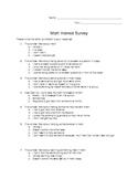 Math Interest Survey